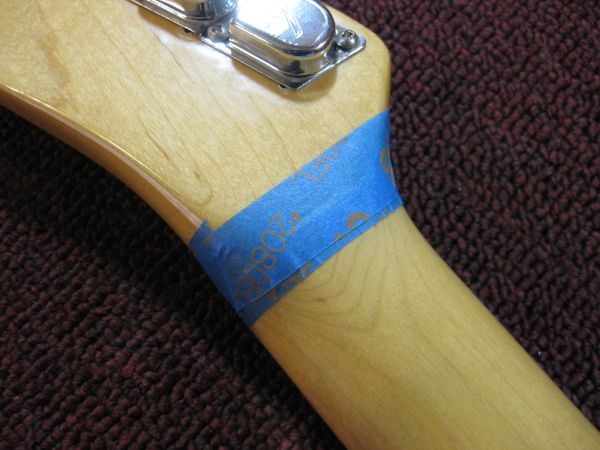 removing finish from a guitar neck