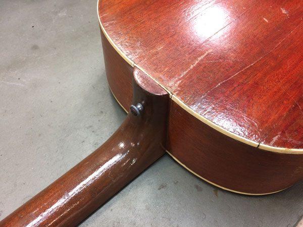 Gibson neck reset    with a twist - Strange Guitarworks