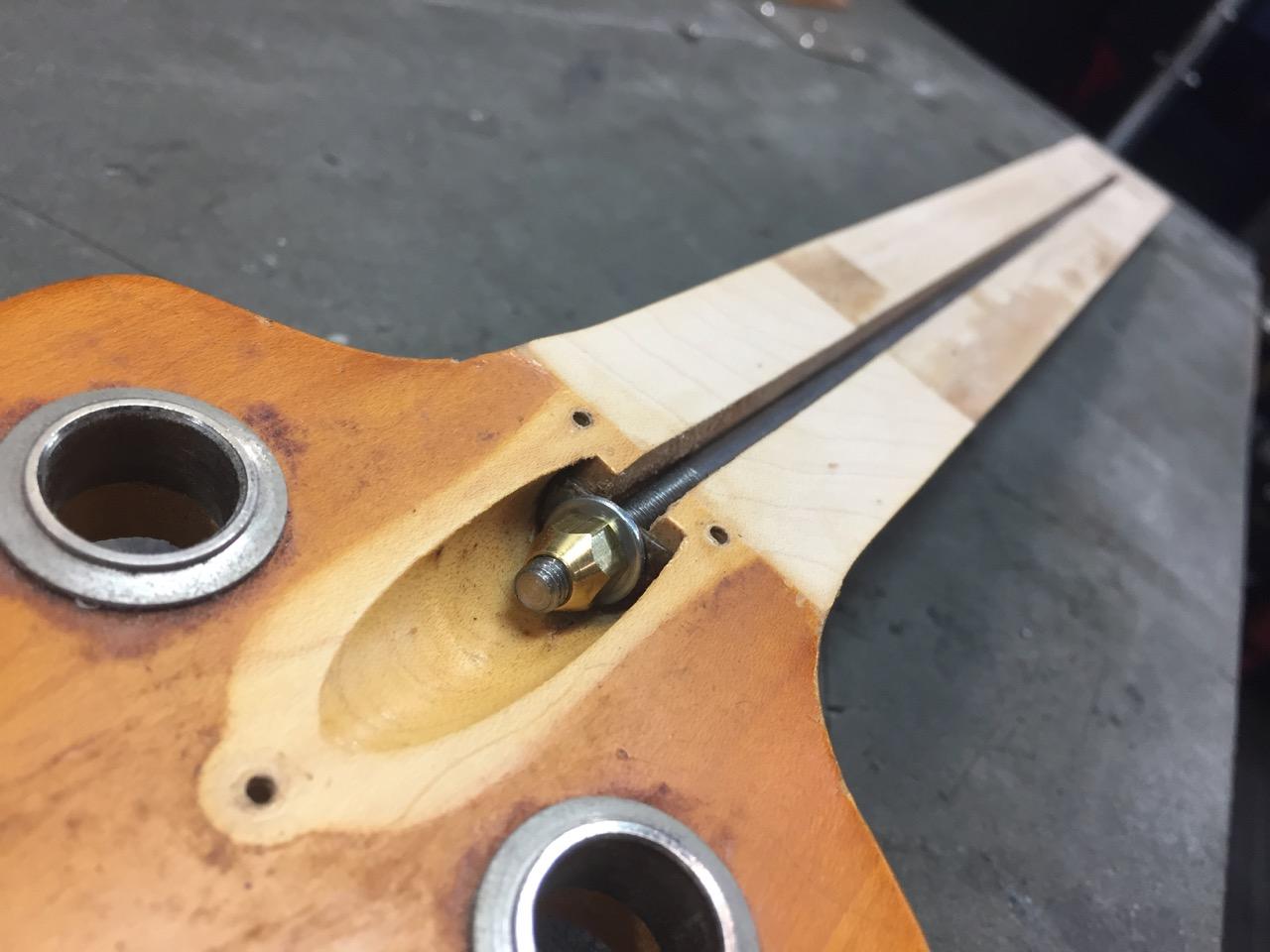 Fixing a broken Gibson truss rod on a vintage Grabber